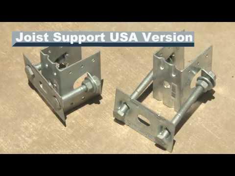 """Bolts not incl. KlevaKlip Adjustable Joist Support Hanger Suit 1 1//2/"""" 38mm"""