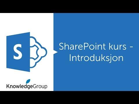 SharePoint kurs - Introduksjon