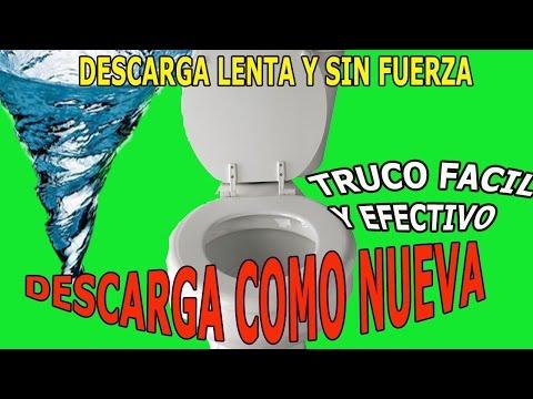 Solucion Descarga Lenta Descarga sin Fuerza Inodoro Poceta Retrete Slow Download Toilet Solution
