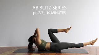 AB WORKOUT SERIES PT. 2/3 | AB HOME WORKOUT | 10 MINUTES | CORE STRENGTH EXERCISES | FLAT TUMMY
