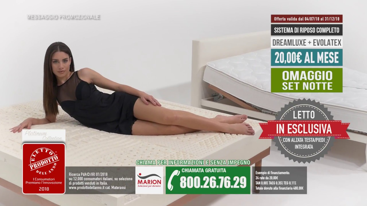 Marion Materassi Memory.Offerta Scaduta Total Comfort Materasso Evolatex Marion A 249