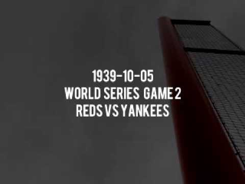 1939 10 05 World Series Game 2 Reds at Yankees (Red Barber and Bob Elson) - Radio Broadcast