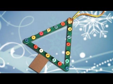 como fazer um enfeite de uma rvore de natal simples youtube