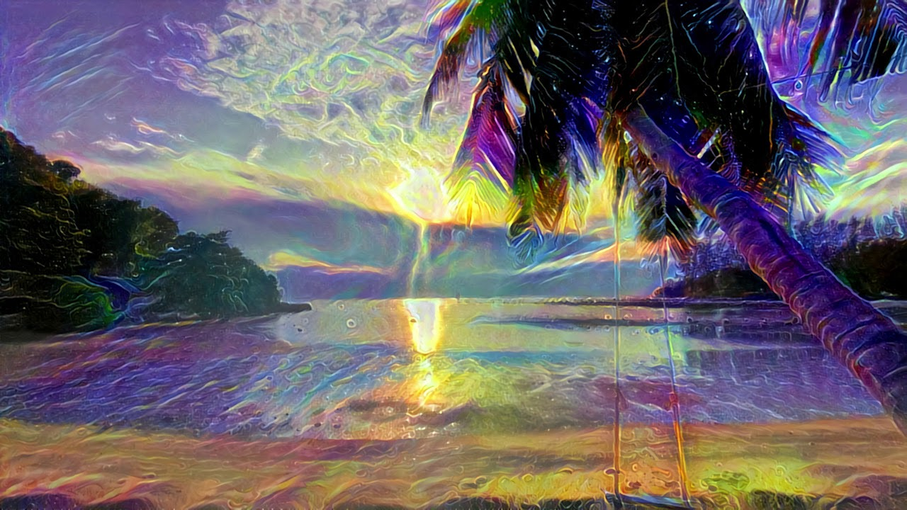 Image result for trippy beach