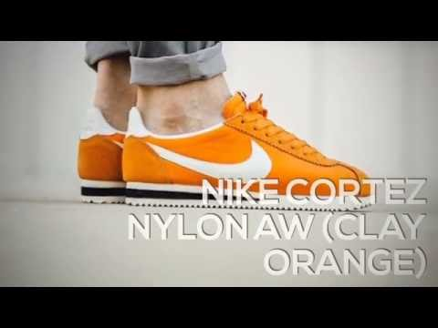 buy online 62172 46283 NIKE CORTEZ NYLON AW (CLAY ORANGE)   PEACE X9 - YouTube