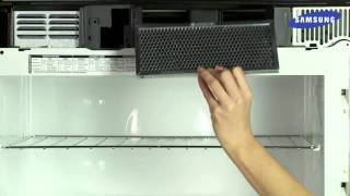 The charcoal filter in your Samsung Microwave needs to be replaced from time to time as it cannot be cleaned. Follow along with this video to learn how to ...