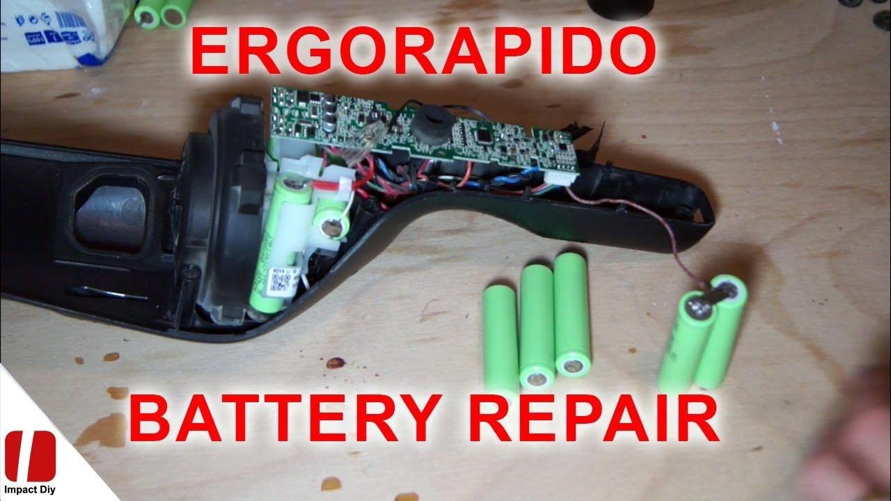 Ergorapido Battery replacement  Inlocuire acumulatori