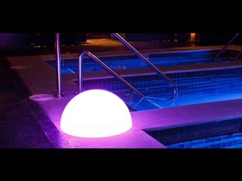 Colorful LED semicircle bar table lamp SL-LML-42212,rechargeable LED glowing lighted DEMI pool light
