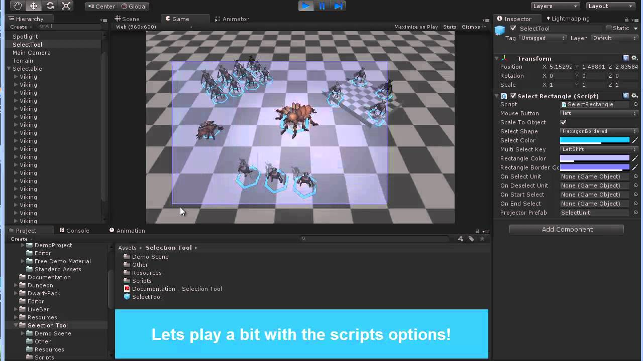Selection Tool for Unity 3D