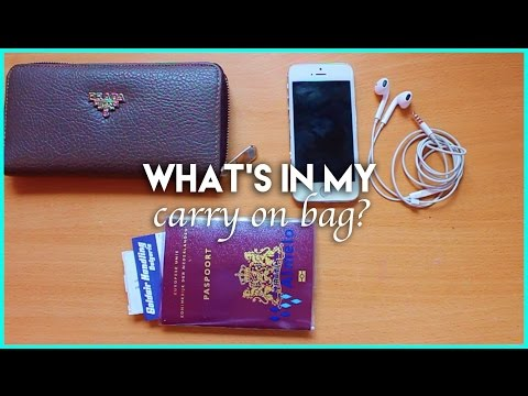 Travel TIPS: CARRY-ON BAG ESSENTIALS! ♡