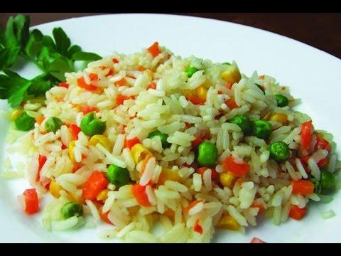 Плов с овощами.Рис с овощами и мясом. Не только вкусный, но и красивый!