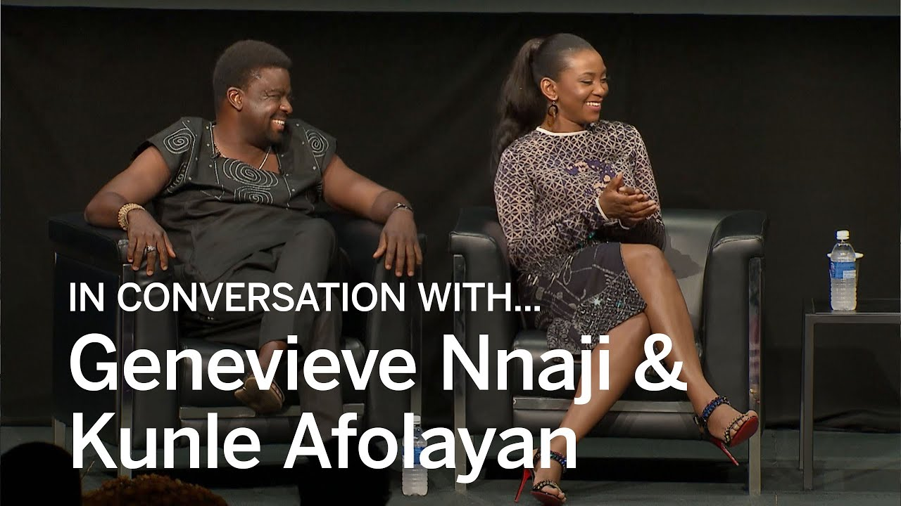 Image result for genevieve and kunle afolayan in conversation