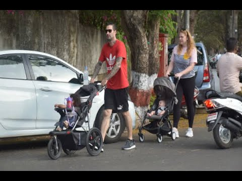 PICS: Sunny Leone's husband Daniel Weber takes their daughter Nisha & one of NEWBORN TWIN