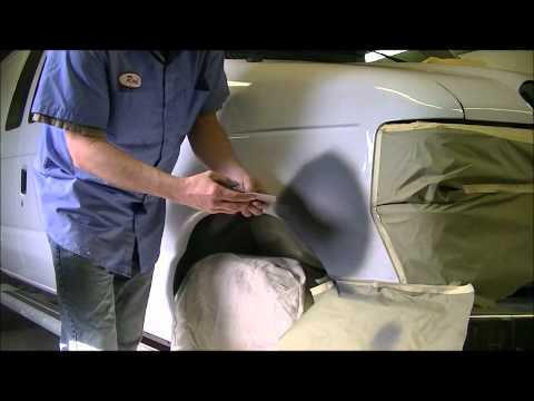 AUTO BODY REPAIR ON 2011 CARGO VAN.wmv