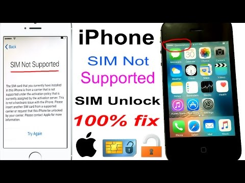 how to unlock any network SIM Not Supported iPhone 100% FIX 2017 [4K] ✅