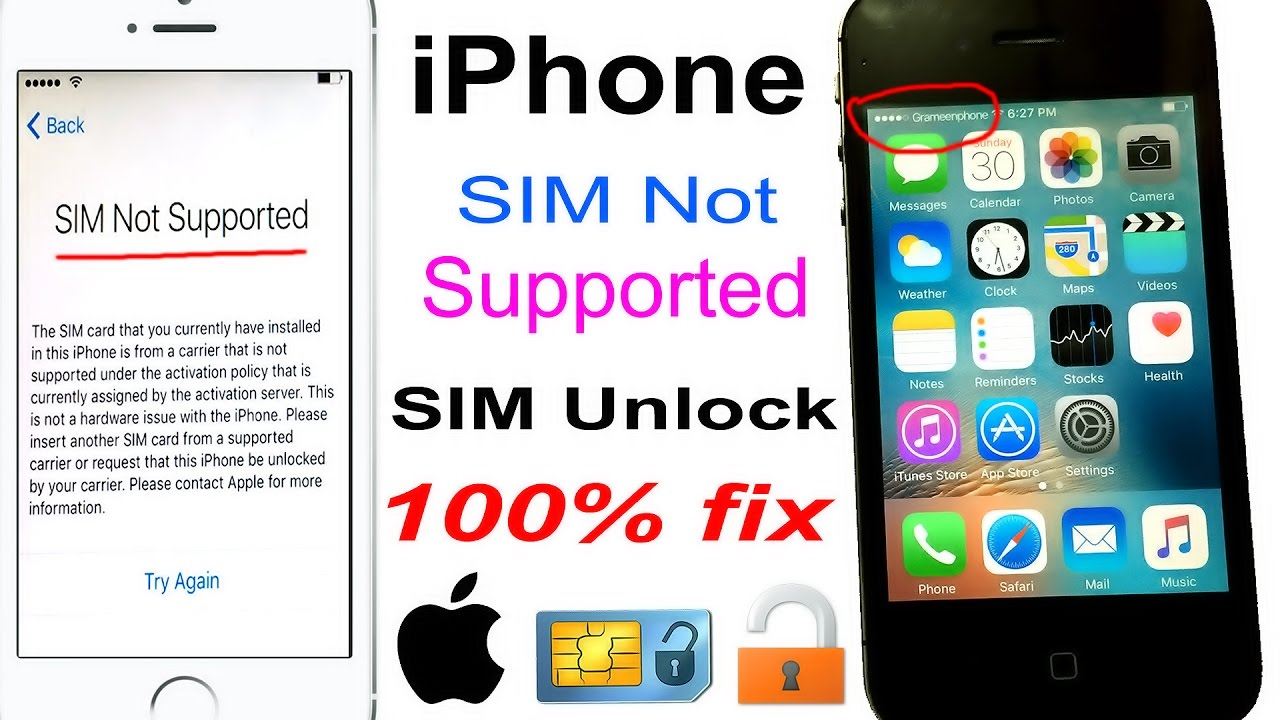 how to open iphone sim how to unlock any network sim not supported iphone 100 17203