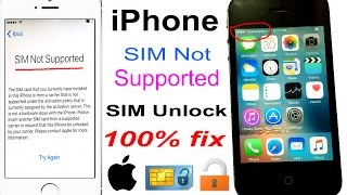 how to unlock any network SIM Not Supported iPhone 100% FIX 2017 [4K] ✅ thumbnail