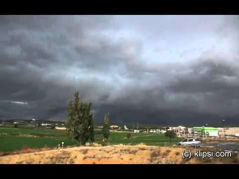 Zaragoza Spain severe storm front  october 9, 2010
