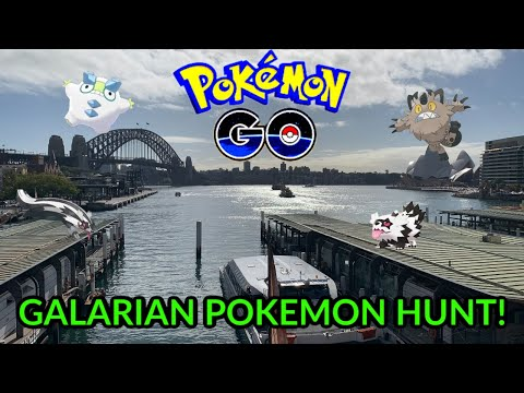 CATCHING & HUNTING NEW GALARIAN POKEMON IN SYDNEY! (Pokemon GO)