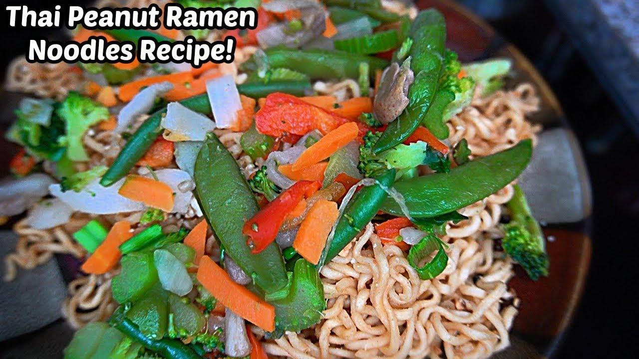 Thai Peanut Ramen Noodle Recipe! 먹방 | SongByrd's Eating Show
