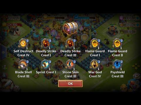 HOARDER Account 200 Lava 2 Chests Psysheild Crest LEVEL 3 Castle Clash