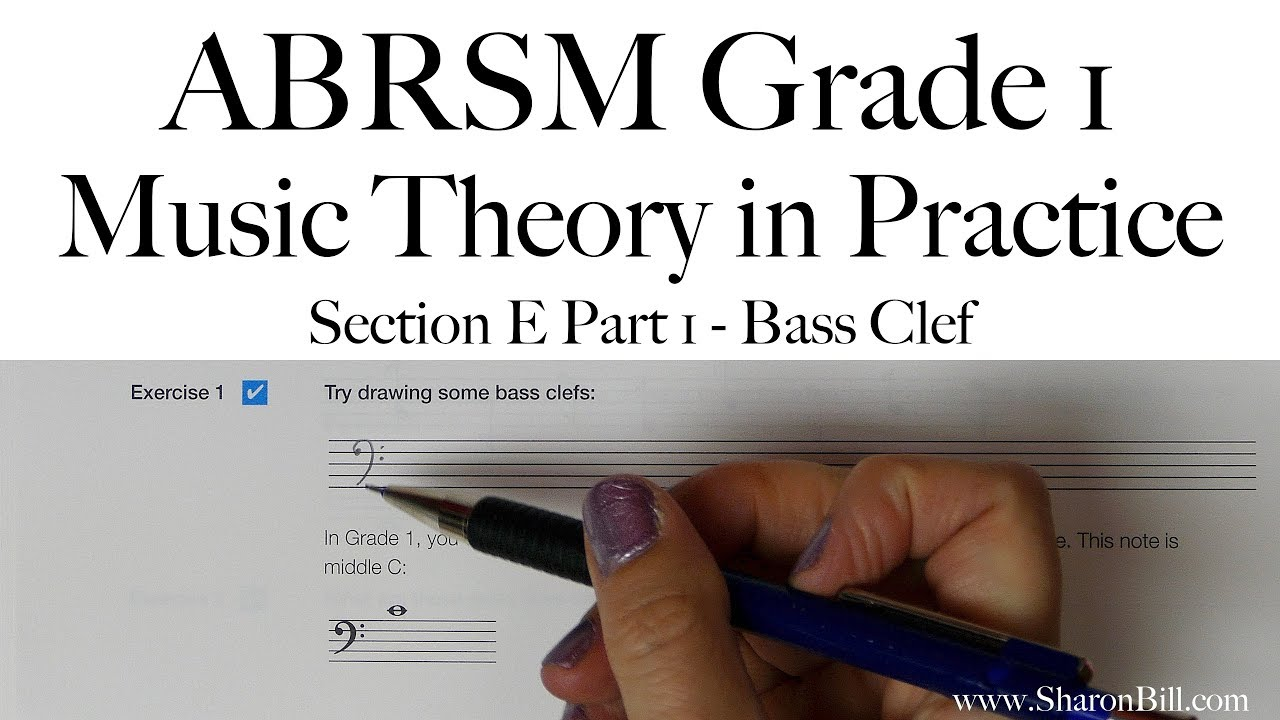ABRSM Grade 1 Music Theory Section E Bass Clef Part 1 with Sharon ...