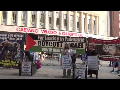 London Protest - Palestine PACBI letter to Caetano Veloso & Gilberto Gil, 1/7/2015 (Inminds.com)