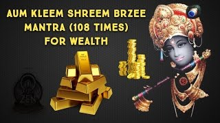 Aum Kleem Shreem Brzee Mantra Meditation 108x to Attract Wealth Fast!