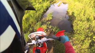 Quick ride on the 2002 Honda xr250r May 2013