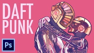 DAFT PUNK: Punk In Love | Speed Illustration