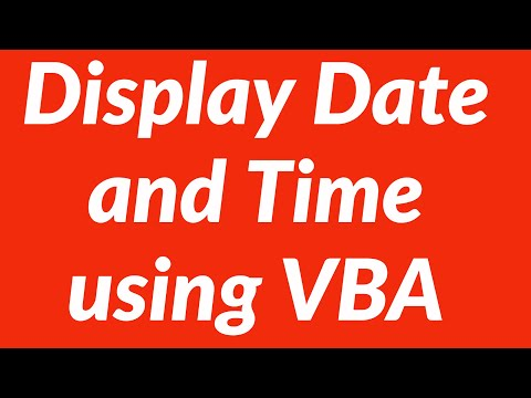 Display Date And Time Automatically In Excel Worksheet