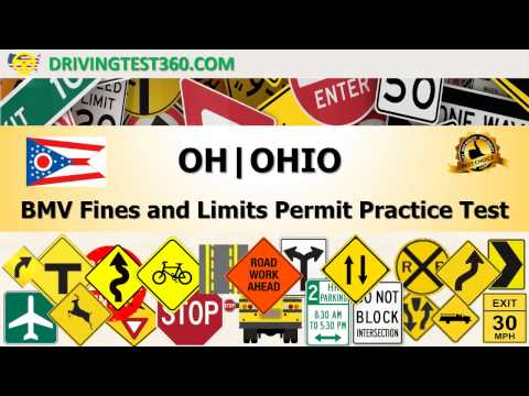 Ohio BMV Fines and Limits Permit Practice Test (hardest) -  OH BMV practice test