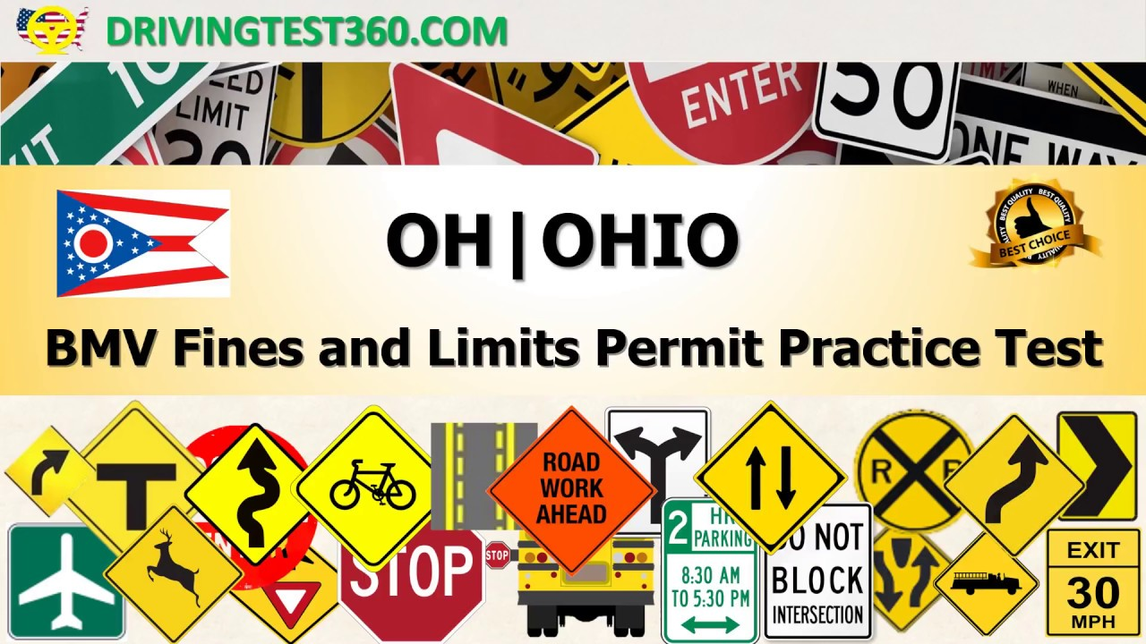 Ohio BMV Fines and Limits Permit Practice Test (hardest) - OH BMV ...
