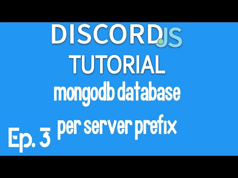 [2020] Discord.js Tutorial Ep. 3   How To Make Per Server Prefix/settings With MongoDB