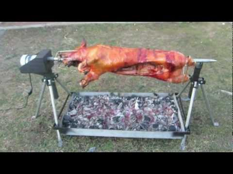 Whole Hog Rotisserie Spit By Pigout Roasters Youtube