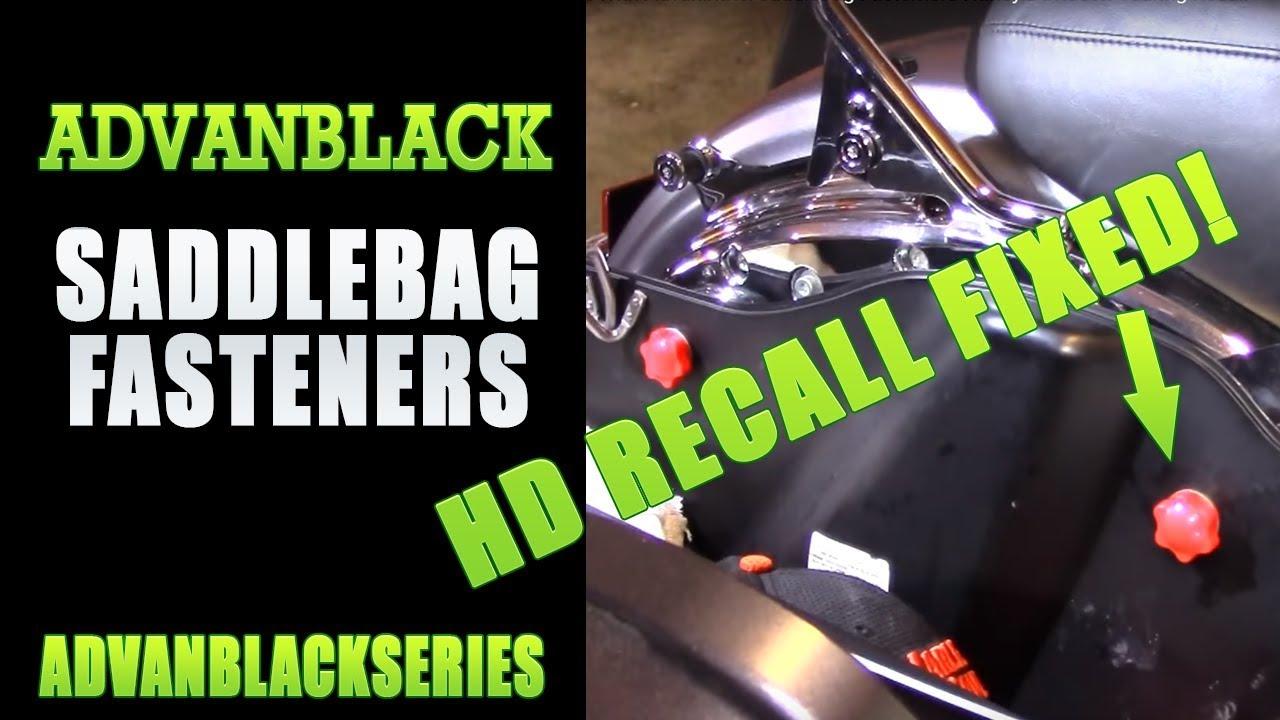 Advanblack Saddlebag Looks Security Mounting Theft Deterre Fit Harley Touring