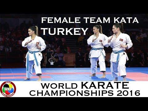BRONZE MEDAL. Female Team Kata TURKEY. 2016 World Karate Championships
