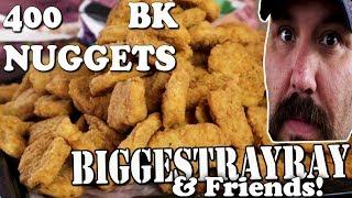 BK 400 chicken nuggets Challenge - Tulsa YouTubers