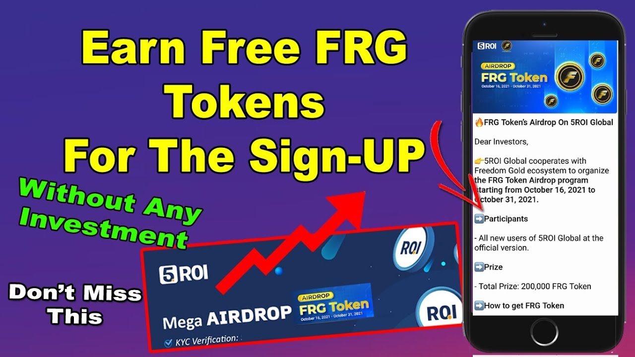 5 ROI Global New Airdrop - Earn Free FRG Tokens Without Any Investment   FRG Token Airdrop