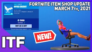 Fortnite Item Shop *NEW* OFFICE CHARIOT EMOTE! [March 7th, 2021] (Fortnite Battle Royale)