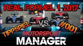 Motorsport Manager vs Real Formel 1 Tippspiel #001