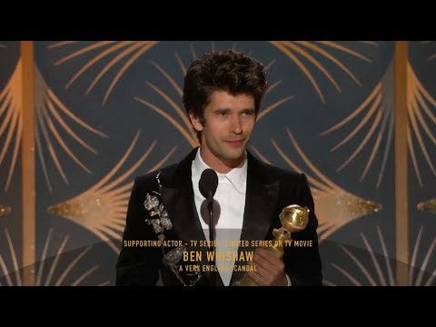 [HD] Ben Whishaw Wins Best TV Supporting Actor | 2019 Golden Globes