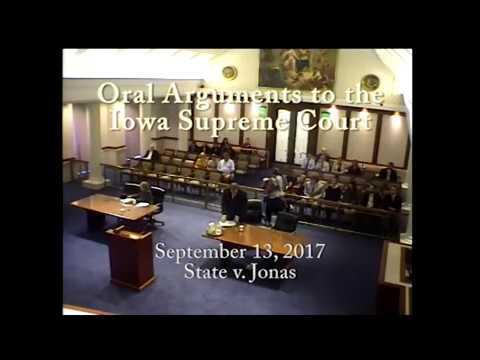 15–1560 State of Iowa v. Stephen Robert Jonas, September 13, 2017