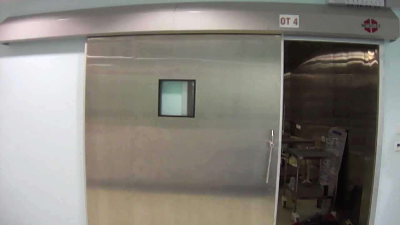 & Metaflex operation theatre door - YouTube