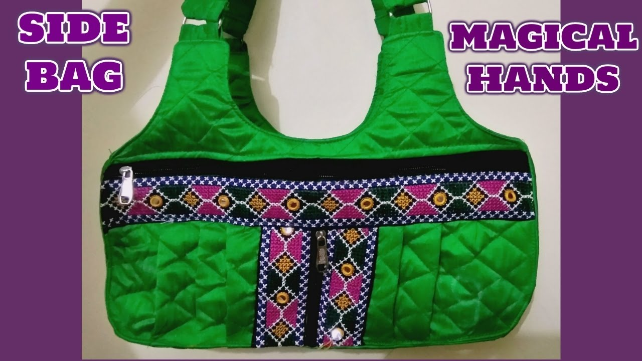 8d1b2f8f622b Designer Handcrafted side bag Diy How to make at home Hindi tutorial ...
