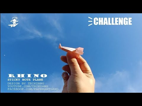Challenge #2 - How to make a Paper Airplane with Sticky Note | Rhino