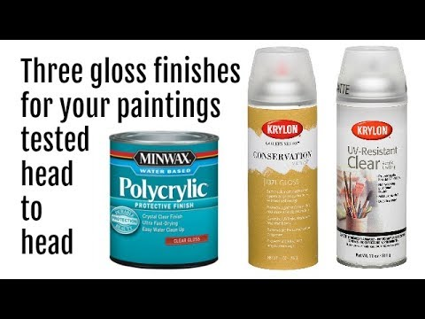 Best Glossy Spray Finishes For Acrylic Pour Paintings Test Review