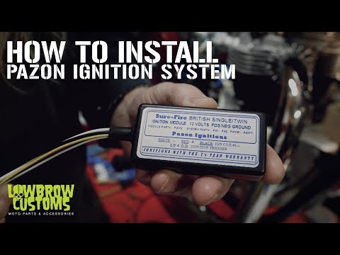 How To Install A Pazon Ignition For Triumph Motorcycles - YouTube