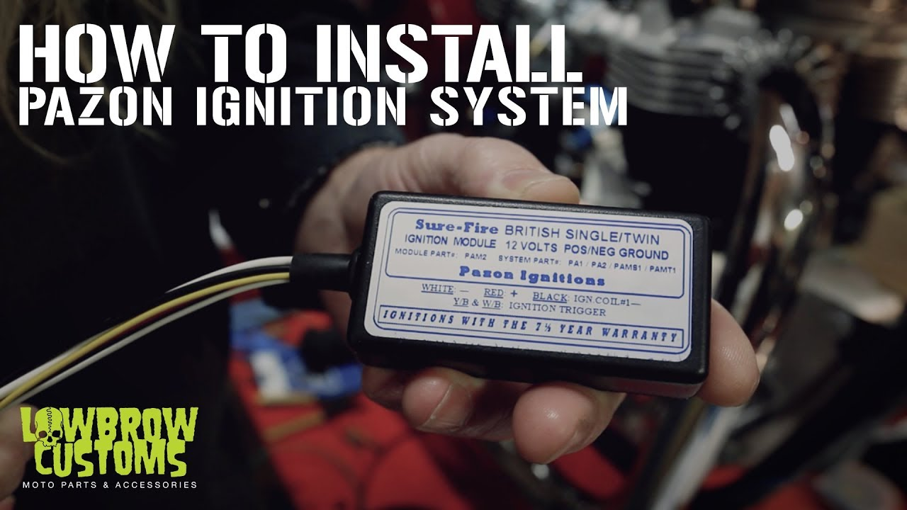 triumph t100 wiring diagram russound volume control how to install a pazon ignition for motorcycles youtube