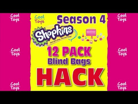 Season 4 SHOPKINS HACK 12 PACK BLIND BAGS Unveiling Hidden by CoolToys